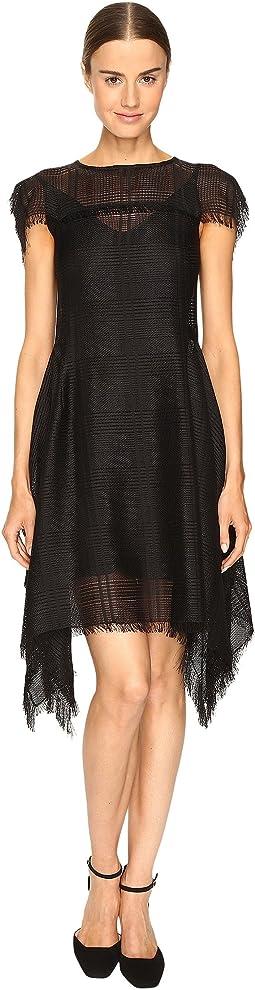 Dire Short Sleeve Handkerchief Dress