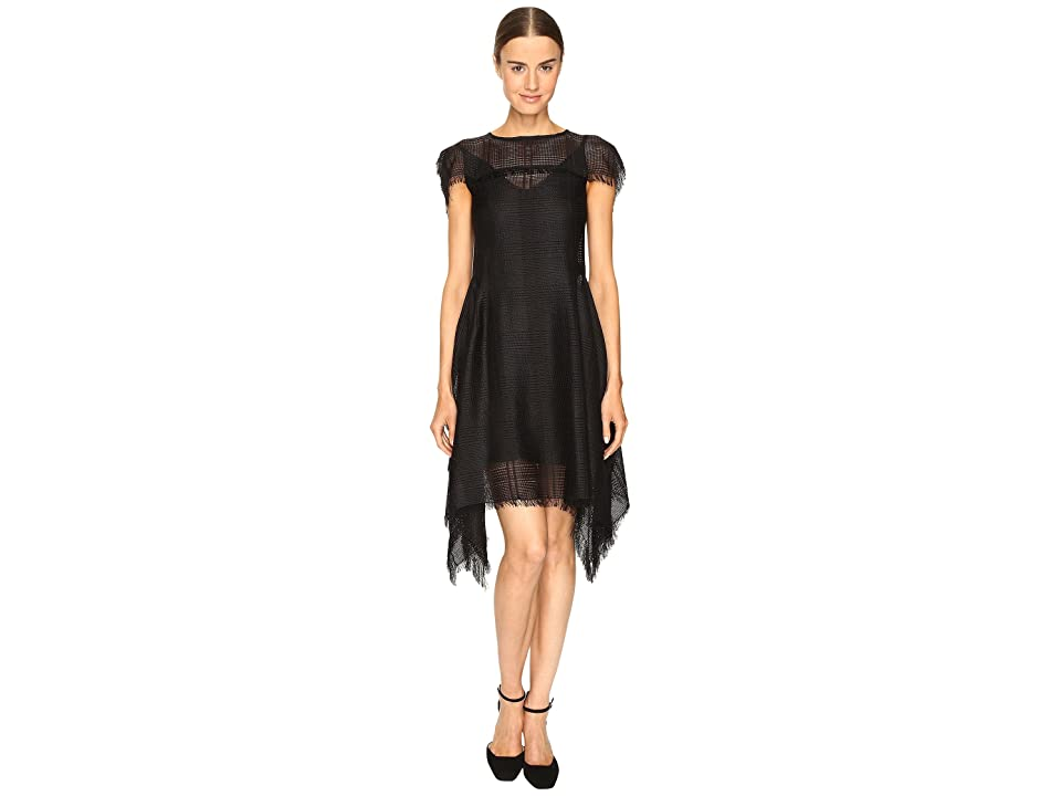 Sportmax Dire Short Sleeve Handkerchief Dress (Black) Women