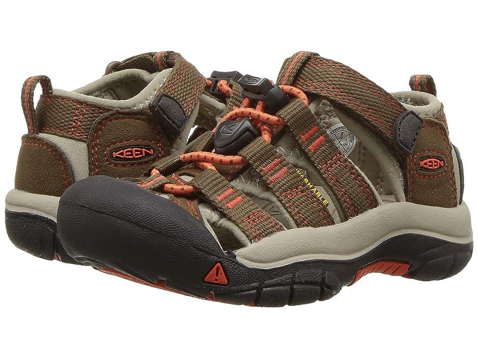 Keen Kids Newport H2 (Toddler/Little Kid) (Dark Earth/Spicy Orange) Boys Shoes
