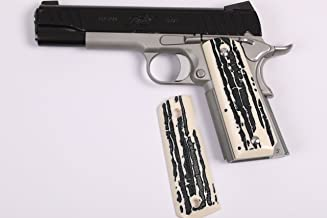 1911 STAG Grips Simulated Ivory (Risen) Standard & Commander Model Springfield, Colt, Sig. S&W, Kimber