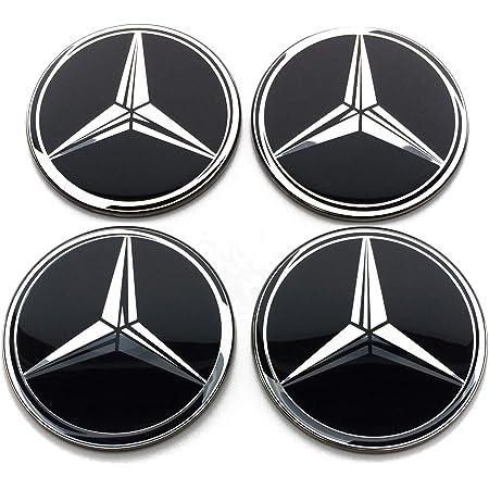 Set di 4 stemma adesivi 60mm per tappi cerchi ruote copriruote