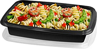 20 PIECE MEAL PREP CONTAINER KIT - 1 SECTION - BLACK
