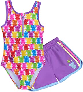 2f111296df7d2 Disney Mickey Mouse and Minnie Mouse Swimsuit and Shorts Set for Girls  Purple