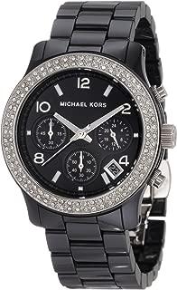 Women's MK5190 Black Ceramic Runway Glitz Watch