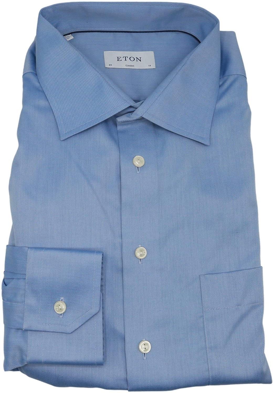 Eton Men's Blue Classic Fit Dress Shirt