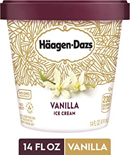 HAAGEN-DAZS Ice Cream, Vanilla, 14 Fl. Oz. Cup | No GMO Ingredients | No rBST | Gluten Free