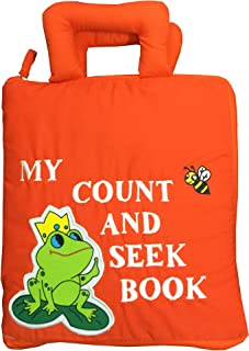 Pockets of Learning Child's First Counting Quiet Book, Activity Busy Book for Toddlers and Children, Count and Seek