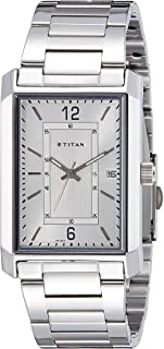 Titan Men Silver Dial Stainless Steel Band Watch - T1697SM01
