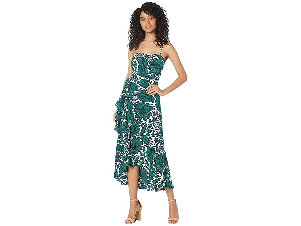 J.Crew Milkshake Gown Tippecanoe Floral (Navy Green) Women's Clothing