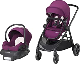 Maxi-Cosi Zelia 5-in-1 Modular Travel System - Stroller and Mico 30 Infant Car Seat Set, Violet Caspia