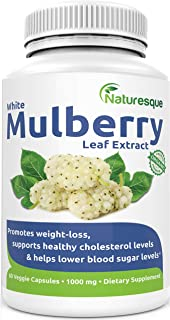 Naturesque White Mulberry Leaf Extract | Controls Appetite, Curbs Sugar & Carb Cravings | Helps Lower Blood...