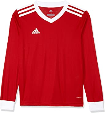 adidas Tabela 18 Long Sleeve Jersey - Adult - Red/White - Large