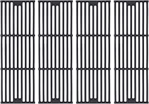 GGC Grill Grates Replacement for Chargriller 3001, 5050, 3008, 3030, 3725, 4000, 5252, King Griller 3008, 5252 and Others, 4 PCS Dumb Light Cast Iron Cooking Grid Grate(19 3/4