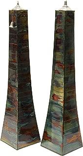 Outdoor Interiors 50300AST-JG Pyramid Torch (2 Pack), Large, Rainforest Jungle
