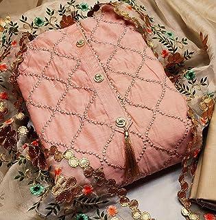 Krishna Enterprise Hot Releases Banarsi Jacquard Unstitched Salwar Suit Dress Material (Free Size)