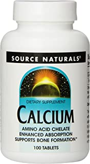 Source Naturals Calcium 200mg, Supports Bone Formation, 100 Tablets (Pack of 2)