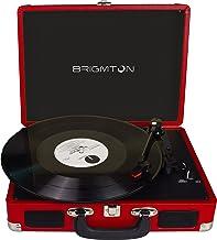 Brigmton BTC-404-R tocadisco - Tocadiscos (DC, Rojo