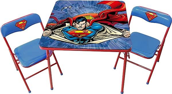 O 儿童超人金属活动桌椅套装