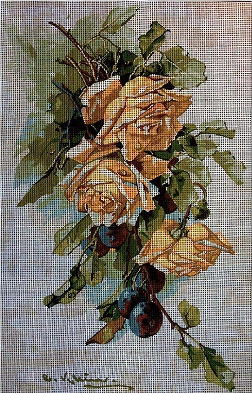 Cross Austin Mall Challenge the lowest price of Japan ☆ Stitch Beginner Kits Tapestry kit 2 Rose Yellow Embroidery