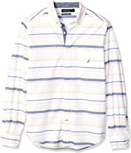 Nautica Long Sleeve Horizontal Stripe Stretch Button Down Shirt