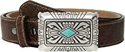 Ariat - Scroll Embossed Square Buckle Belt