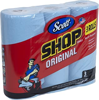 Scott Shop Towels Original (75143), Blue, 55 Sheets / Standard Roll, 30 Rolls / Case (10 Bundles of 3 Rolls), 1,650 Towels / Case