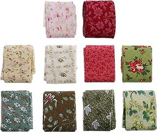 EXCEART 10Pcs Fita de Viés de Costura Fita de Viés de Algodão Tecido Sortido Fita de Algodão Longo Floral para Costura Cos...