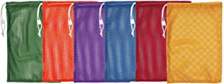 Champion Sports Durable Mesh Drawstring Sports Equipment Bag – Multiple Colors and Sizes