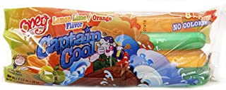 Freeze Pops Ice Pops Captain Cool Fruity Icee Icicle No Coloring Kosher (Lemon Lime/Orange Flavor, Single Pack)