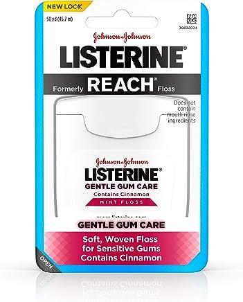 Listerine Gentle Gum Care Interdental Floss for Sensitive Gums, Oral Care, Mint, 50