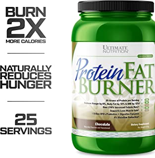 Ultimate Nutrition Protein Fat Burner Whey Protein Powder for Weight Loss - Keto Friendly with Natural Hunger Reducing Ingredients, 25 Servings, Chocolate