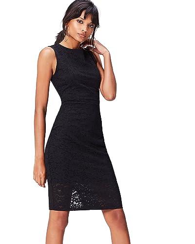 a2a48a7f8f1e Black Lace Dresses: Amazon.co.uk