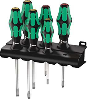 Wera Kraftform Plus 334/6 Screwdriver Set with Rack and Lasertip, 6-Pieces