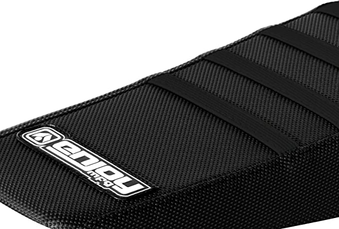 Enjoy MFG 2016-2018 Kawasaki KXF 450 Black Sides//Green Top//Black Ribs Seat Cover