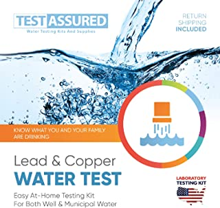Test Assured Lead and Copper Water Test Kit - Easy at-Home Municipal and Well Water Test Kit - Mailed-in Laboratory Testing Kit