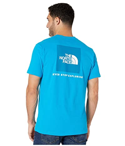 The North Face Short Sleeve Red Box T-Shirt (Acoustic Blue) Men
