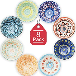 Farielyn-X 8 Pack Small Ceramic Bowls - Porcelain, Soup, Salad, Pasta, Rice, Dessert, Yoghurt, Condiments, Side Dishes, Di...
