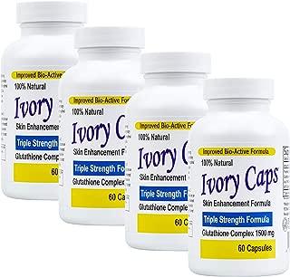 4 Pack Ivory Caps **BEST VALUE**- Maximum Potency Glutathione 1500