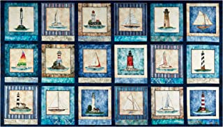 Fabric & Fabric QT s Smooth Sailing Nautical 24'' Patches Navy