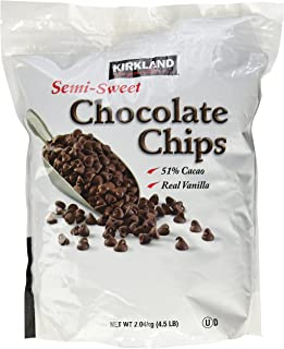 KIRKLAND SIGNATURE カークランドシグネチャー 51%カカオ使用 セミスイート チョコレートチップ 大容量 2.04kg