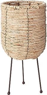 Bloomingville AH0456 Basket, 7 Inch x 15 Inch, Beige