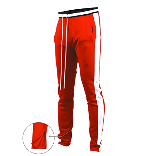 11eb815b33d Screenshotbrand Mens Hip Hop Premium Slim Fit Track Pants - Athletic Jogger  Bottom with Side Taping