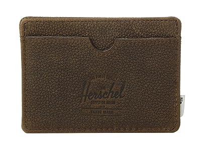 Herschel Supply Co. Charlie + Tile (Brown Pebbled Nubuck) Wallet Handbags