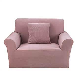 Premium Knit Armchair Slip Cover Spandex 1 Piece Chair Slipcover Furniture Protector Pink