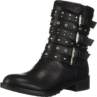 Fergalicious Women's Fantom Combat Boot, Black, 6 M M US