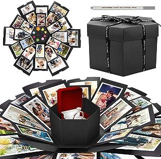 WisFox Explosion Box, Creativo DIY Hecho a Mano Sorpresa Explosión Caja de Regalo Amor Memoria, Álbum de Fotos de Scrapboo...