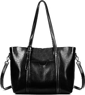 Sponsored Ad - Gywon Genuine Leather Shoulder Bag for Women Retro Classic Design Classic Tote Bag Shoulder Bag Top Handle ...