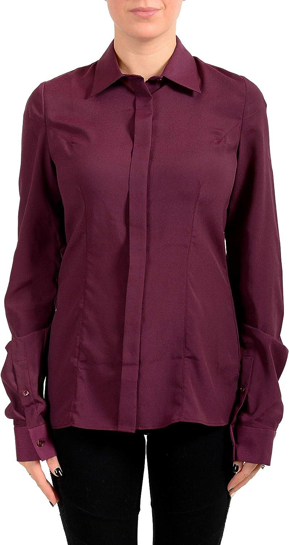 Maison Margiela Women's Purple Button Down Blouse Top US M IT 42