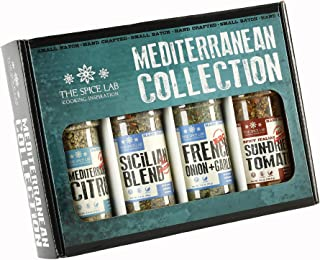 The Spice Lab Mediterranean Spices and Seasonings Set - Ultimate Culinary Gift Set - Perfect Gift Kit for All Around Cooking and Air Fryers - Great Gifts for Men or Gift Baskets – Made in the USA