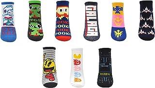 Retro Arcade Games Lowcut Socks (9 Pair) - PAC-MAN, Dig Dug, Galaga - Classic Gaming Gifts